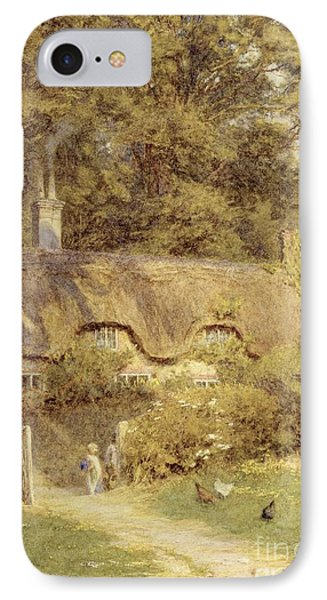 Cottage At Farringford Isle Of Wight Phone Case by Helen Allingham