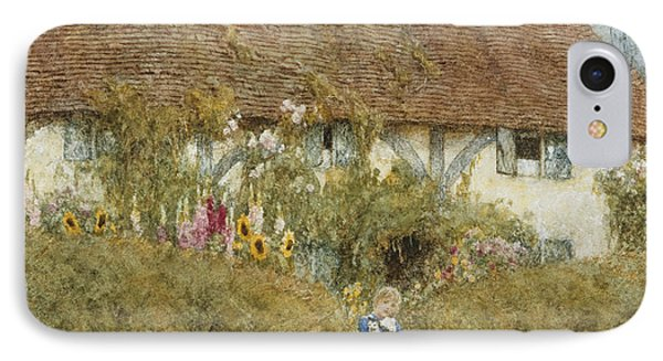 Cottage At West Horsley Surrey Phone Case by Helen Allingham
