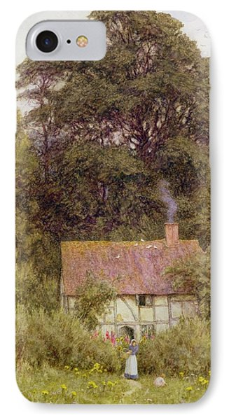 Cottage Near Brook  Phone Case by Helen Allingham