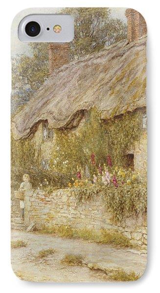 Cottage Near Wells Somerset IPhone Case by Helen Allingham