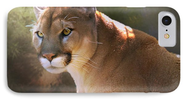 IPhone Case featuring the digital art Cougar by Mary Almond