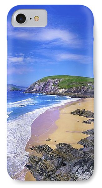 Coumeenoole Beach, Dingle Peninsula, Co Phone Case by The Irish Image Collection