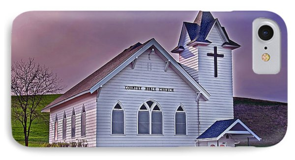 IPhone Case featuring the photograph Country Church At Sunset Art Prints by Valerie Garner