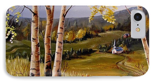Country Church Phone Case by Marilyn Smith
