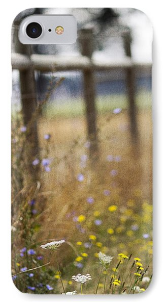 Country Fence IPhone Case by Rebecca Cozart