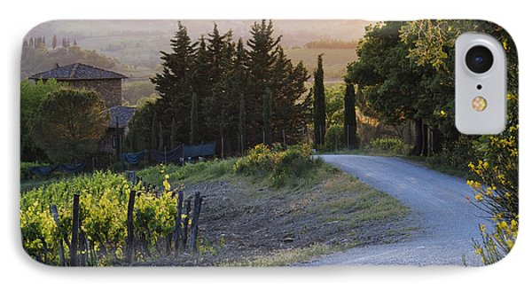 Country Road At Sunset IPhone Case by Jeremy Woodhouse