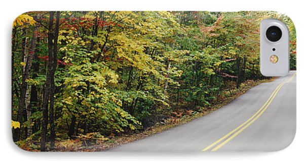 Country Road Through Maine Forest IPhone Case by Jeremy Woodhouse