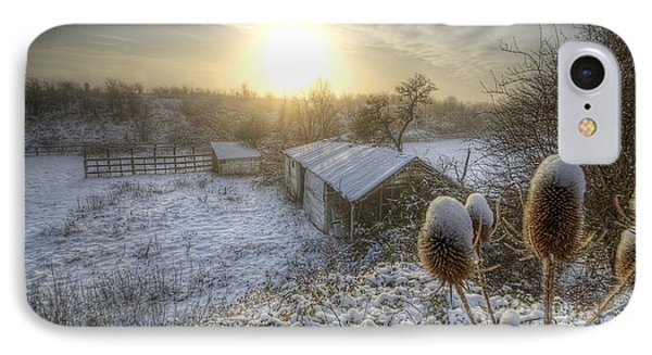 Country Snow And Sunrise Phone Case by Yhun Suarez
