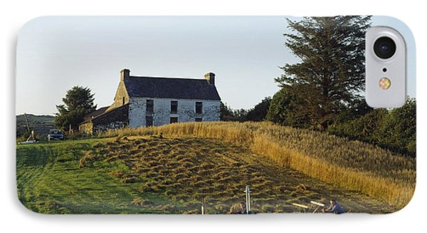 County Cork, Ireland Farmer On Tractor Phone Case by Ken Welsh