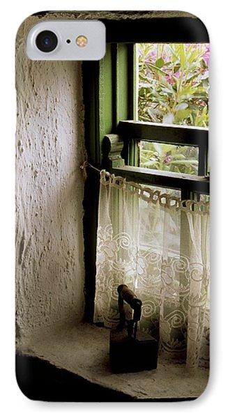 County Kerry, Ireland Cottage Window IPhone Case by Richard Cummins