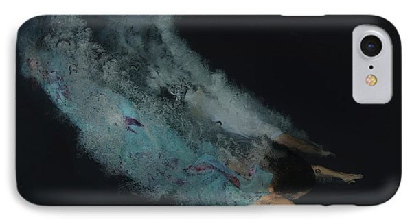 Couple Dive Together Into Water. Phone Case by Hagai Nativ
