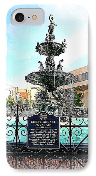Court Square Fountain Phone Case by Carol Groenen