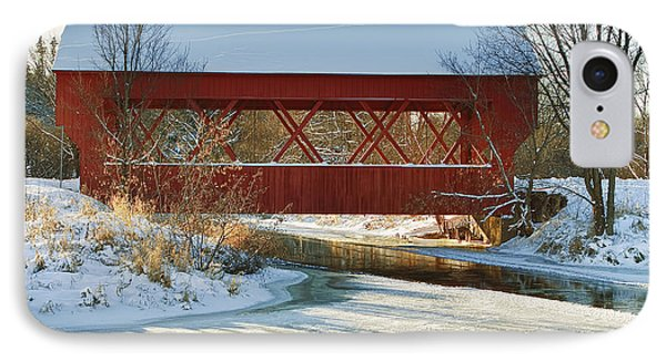 IPhone Case featuring the photograph Covered Bridge by Eunice Gibb