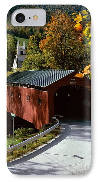 Covered Bridge In Vermont Phone Case by Rafael Macia and Photo Researchers