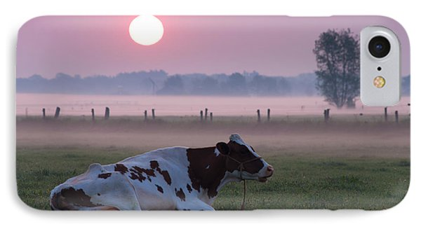 IPhone Case featuring the photograph Cow In Meadow by Hans Engbers