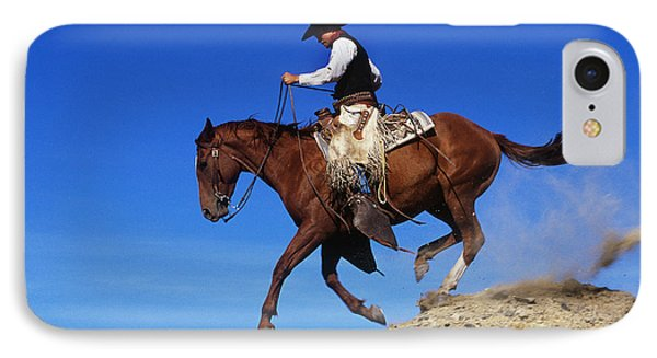 Cowboy Phone Case by George D Lepp and Photo Researchers