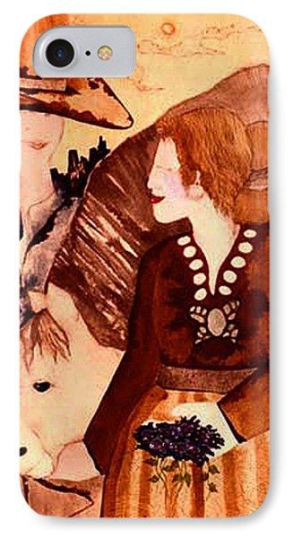 Cowboy Love Phone Case by Dede Shamel Davalos