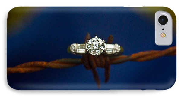 Cowgirl Engagement Ring 1 Phone Case by Douglas Barnett