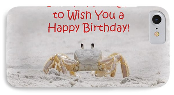 Crab Happy Birthday IPhone Case