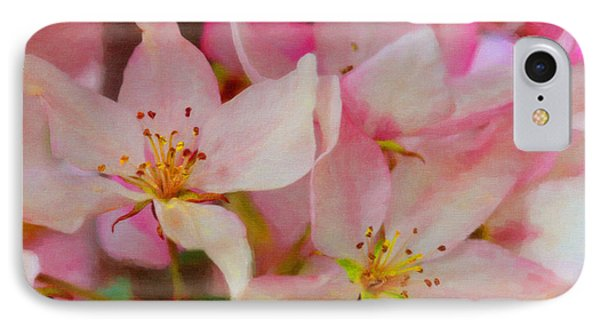 Crabapple Floral Paint Phone Case by Donna Munro