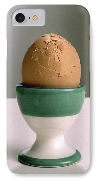 Cracked Boiled Egg IPhone Case by Victor De Schwanberg