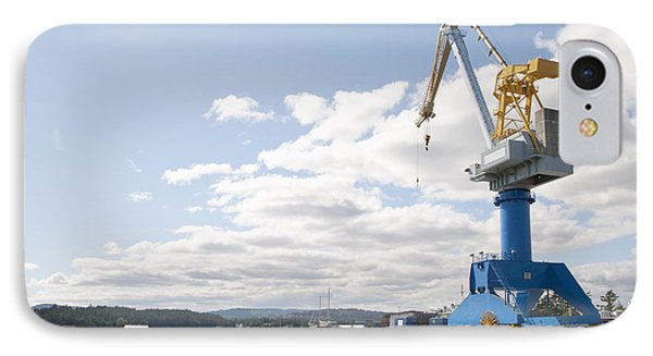 Crane At Shipyard Phone Case by Shannon Fagan