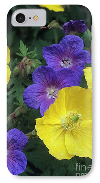 Cranesbill And Iceland Poppy Flowers Phone Case by Archie Young