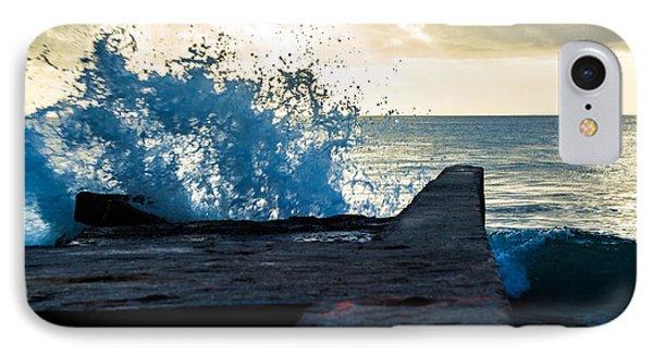 Crashing Blue Phone Case by Rene Triay Photography
