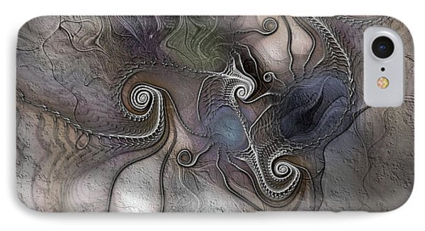 IPhone Case featuring the digital art Creatively Calcified by Casey Kotas