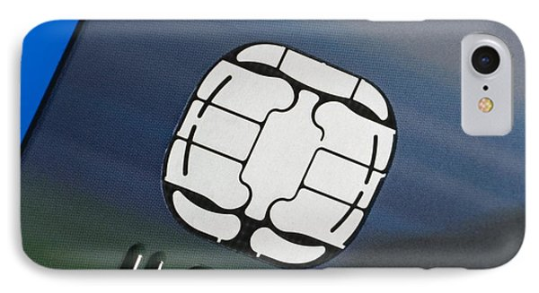 Credit Card Microchip Phone Case by Steve Horrell