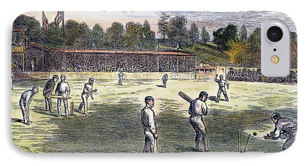 Cricket Match, 1879 IPhone Case by Granger