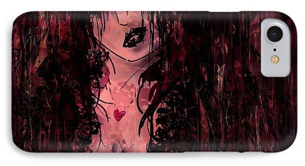 Crimson Torn Lace Phone Case by Rachel Christine Nowicki