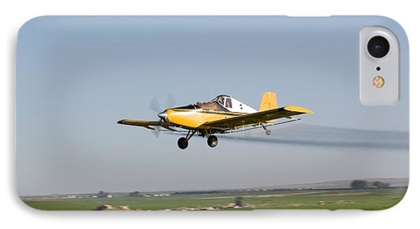 Crop Duster Flying Over Farm  Phone Case by Cindy Singleton