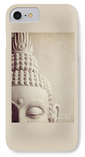Cropped Stone Buddha Head Statue IPhone Case