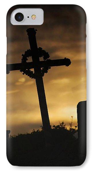 Cross At Sunset Phone Case by John Short