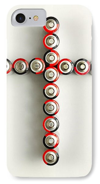 Cross Batteries 1 A Phone Case by John Brueske