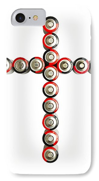 Cross Batteries 1 B Phone Case by John Brueske