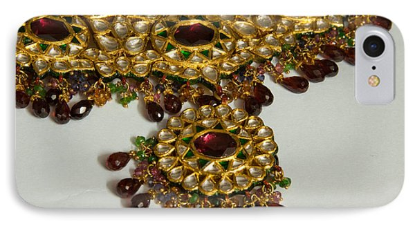 Cross Section Of A Purple And Yellow Gold Beautiful Necklace Phone Case by Ashish Agarwal