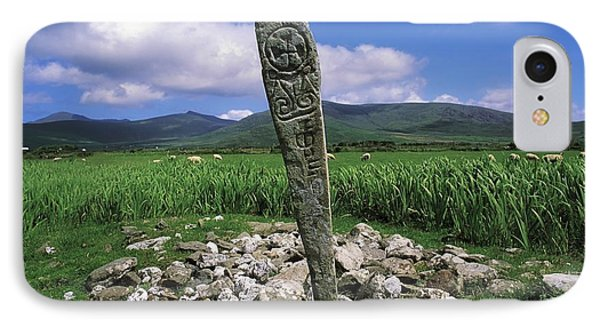 Cross Slab, Dingle Peninsula, Co Kerry Phone Case by The Irish Image Collection