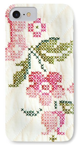 Cross Stitch Flower 1 Phone Case by Marilyn Hunt
