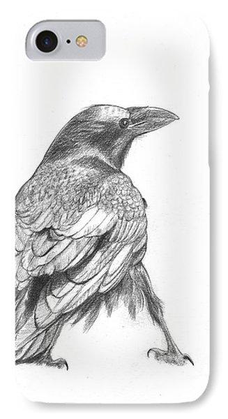 Crow Phone Case by Kazumi Whitemoon