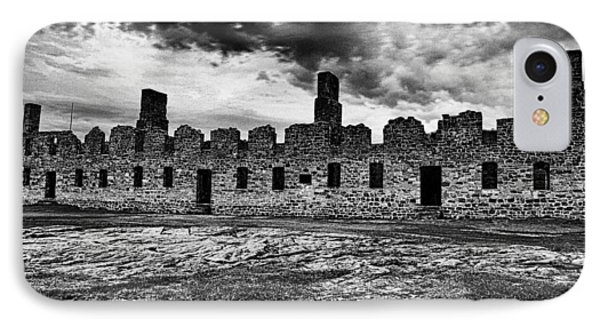 Crown Point Barracks Black And White IPhone Case