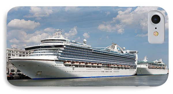 Cruise Ships At Cruiseport Boston Phone Case by Clarence Holmes