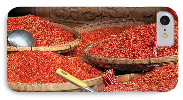 Crushed Chili Peppers IPhone Case by Valentino Visentini