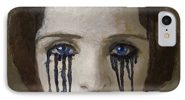Crying Woman Phone Case by Ilir Pojani