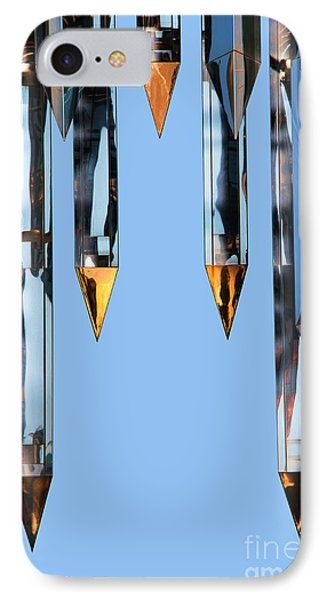 Crystal Cathedral Tower Points IPhone Case by Mariola Bitner