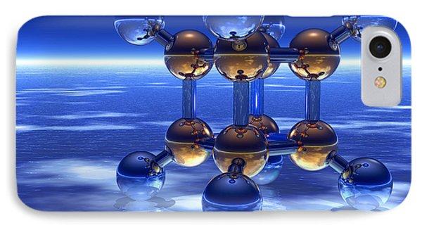 Cubane Molecule Phone Case by Laguna Design