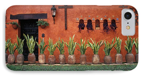 IPhone Case featuring the photograph Cuernavaca Wall Mexico by John  Mitchell