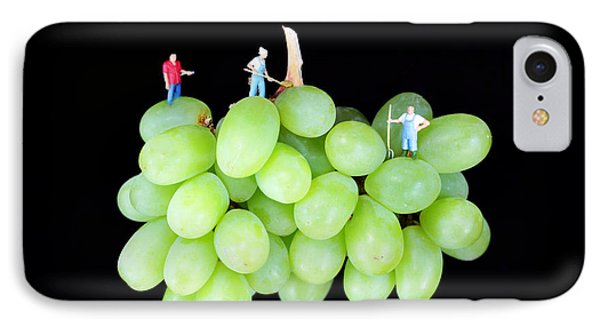 Cultivation On Grapes Phone Case by Paul Ge
