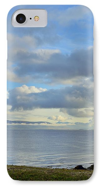 Cumulus Clouds Sea And Mountains Reykjavik Iceland IPhone Case by Marianne Campolongo